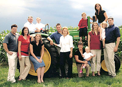 The Downey family works together to bring your family a great farm experience at Downey's Farm, Caledon, Ontario