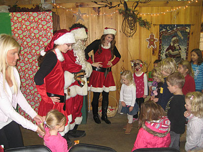 Have the perfect Birthday Party at Christmas time at Downey's Farm in Caledon, Ontario, west of Toronto...we'll invite Santa as your special guest!