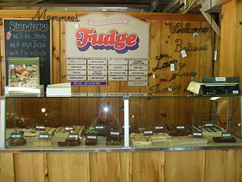 Delicious homemade fudge right from the farm at Downey's Farm Market in Brampton, ON