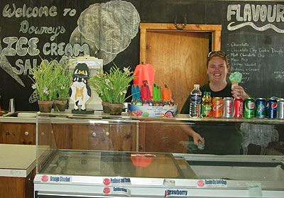 Ice cream, sherbet, fries, hot dogs and more fun foods at Downey's Farm in Caledon, Ontario.