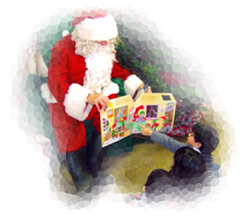 Santa isn't confined to shopping malls-he can be your child's friend, at Downey's Farm, Caledon, Ontario west of Toronto