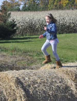 Educational field trips include time for open air play at Downey's Farm, Caledon, Ontario west of Toronto.