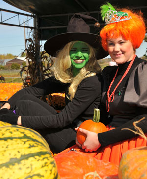 Be-witching fun at the Pumpkin Fest at Downey's Farm, Caledon, Ontario.